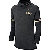 Nike Women's Colorado Buffaloes Black Funnel Neck Long Sleeve Top