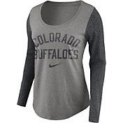 Nike Women's Colorado Buffaloes Grey Elevated Essentials Tri-Blend Long Sleeve Shirt