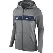Nike Women's UConn Huskies Grey Full-Zip Hoodie