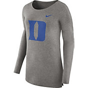 Nike Women's Duke Blue Devils Grey Cozy Long Sleeve Shirt