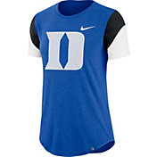 Nike Women's Duke Blue Devils Duke Blue Tri-Blend Fan Crew T-Shirt