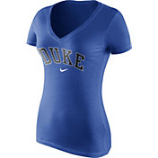 Nike Women's Duke Blue Devils Duke Blue Wordmark V-Neck T-Shirt