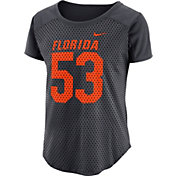 Nike Women's Florida Gators Antracite Modern Fan Jersey Top