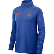 Nike Women's Florida Gators Blue Core Half-Zip Shirt