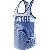 Nike Women's Florida Gators Blue Modern Sport Dri-Fit Dri-Blend Tank Top