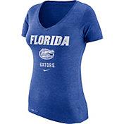 Nike Women's Florida Gators Blue Franchise Dri-Blend V-Neck T-Shirt