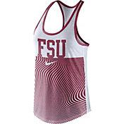 Nike Women's Florida State Seminoles Garnet Modern Sport Dri-Fit Dri-Blend Tank Top