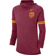 Nike Women's Florida State Seminoles Garnet Funnel Neck Long Sleeve Top