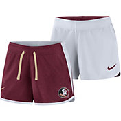Nike Women's Florida State Seminoles Garnet/White Touch Reversible Performance Shorts