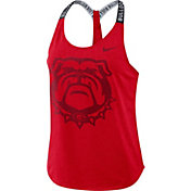 Nike Women's Georgia Bulldogs Red Dri-FIT Elastika Tank Top