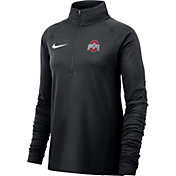 Nike Women's Ohio State Buckeyes Core Half-Zip Black Shirt