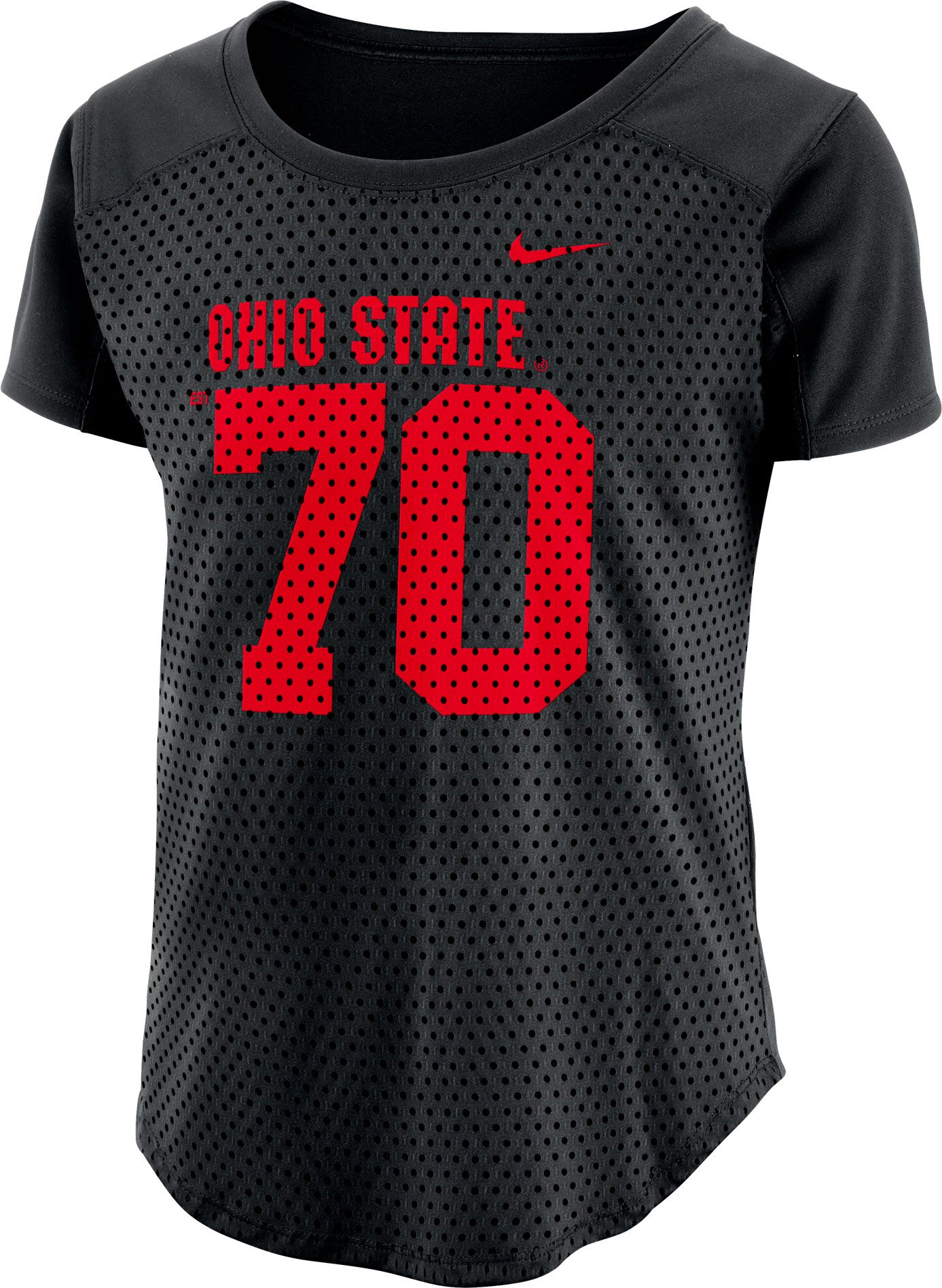 ... number stitched ncaa limited football jersey bcbe0 1f8ad  usa nike womens  ohio state buckeyes modern fan black jersey top 6124e 257b1 0190031a5
