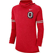 Nike Women's Ohio State Buckeyes Scarlet Funnel Neck Long Sleeve Top
