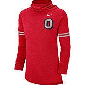 Nike Women's Ohio State Buckeyes Scarlet Funnel Neck Long Sleeve Top