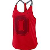 Nike Women's Ohio State Buckeyes Scarlet Dri-FIT Elastika Tank Top