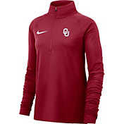 Nike Women's Oklahoma Sooners Crimson Core Half-Zip Shirt