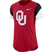 Nike Women's Oklahoma Sooners Crimson Tri-Blend Fan Crew T-Shirt