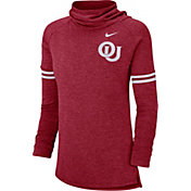 Nike Women's Oklahoma Sooners Crimson Funnel Neck Long Sleeve Top