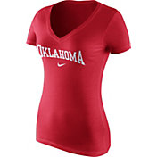 Nike Women's Oklahoma Sooners Crimson Wordmark V-Neck T-Shirt