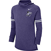 Nike Women's Kansas State Wildcats Purple Funnel Neck Long Sleeve Top