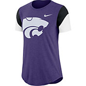 Nike Women's Kansas State Wildcats Purple Tri-Blend Fan Crew T-Shirt
