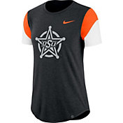 Nike Women's Oklahoma State Cowboys Black Tri-Blend Fan Crew T-Shirt
