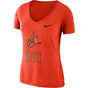 Nike Women's Oklahoma State Cowboys Orange Vault Tri-Blend V-Neck T-Shirt