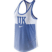 Nike Women's Kentucky Wildcats Blue Modern Sport Dri-Fit Dri-Blend Tank Top