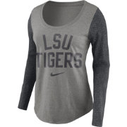 Nike Women's LSU Tigers Grey Elevated Essentials Tri-Blend Long Sleeve Shirt