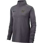 Nike Women's Michigan Wolverines Grey Core Half-Zip Shirt