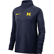 Nike Women's Michigan Wolverines Blue Core Half-Zip Shirt