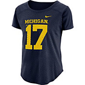 Nike Women's Michigan Wolverines Blue Modern Fan Jersey Top