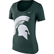 Nike Women's Michigan State Spartans Green Modern Sport Scoop Neck T-Shirt