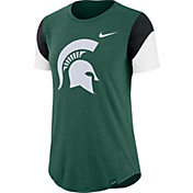 Nike Women's Michigan State Spartans Green Tri-Blend Fan Crew T-Shirt