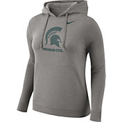 Nike Women's Michigan State Spartans Grey Club Pullover Hoodie