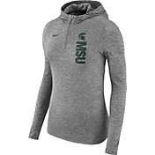 Nike Women's Michigan State Spartans Grey Element Dry Quarter-Zip Hoodie