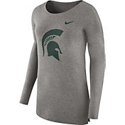 Nike Women's Michigan State Spartans Grey Cozy Long Sleeve Shirt