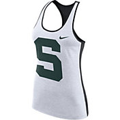 Nike Women's Michigan State Spartans White Dri-FIT Touch Tank Top