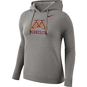 Nike Women's Minnesota Golden Gophers Grey Club Pullover Hoodie