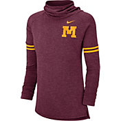 Nike Women's Minnesota Golden Gophers Maroon Funnel Neck Long Sleeve Top