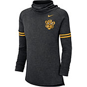 Nike Women's Missouri Tigers Black Funnel Neck Long Sleeve Top