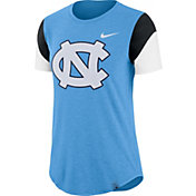 Nike Women's North Carolina Tar Heels Carolina Blue Tri-Blend Fan Crew T-Shirt