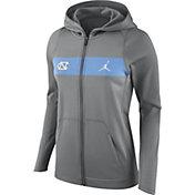 Nike Women's North Carolina Tar Heels Grey Full-Zip Hoodie