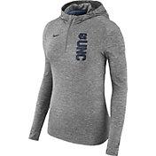 Nike Women's North Carolina Tar Heels Grey Element Dry Quarter-Zip Hoodie
