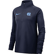 Nike Women's North Carolina Tar Heels Navy Core Half-Zip Shirt