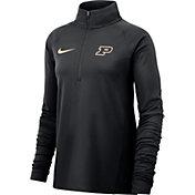 Nike Women's Purdue Boilermakers Core Half-Zip Black Shirt