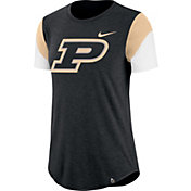Nike Women's Purdue Boilermakers Black Tri-Blend Fan Crew T-Shirt