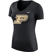 Nike Women's Purdue Boilermakers Heathered Purple Dri-FIT Touch V-Neck T-Shirt
