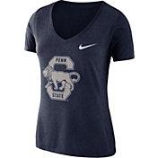 Nike Women's Penn State Nittany Lions Blue Vault Tri-Blend V-Neck T-Shirt