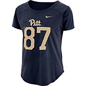 Nike Women's Pitt Panthers Blue Modern Fan Jersey Top